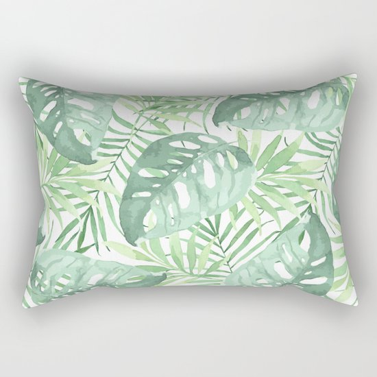 Tropical Branches Pattern 03 Rectangular Pillow