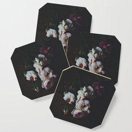 English Roses Still Life - Dark Number Two Coaster