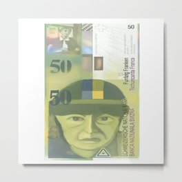 50 Swiss Francs  note bill - front side Metal Print