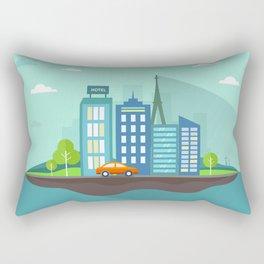 Island city Rectangular Pillow