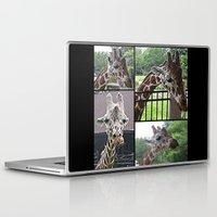 giraffes Laptop & iPad Skins featuring Giraffes  by grapeloverarts