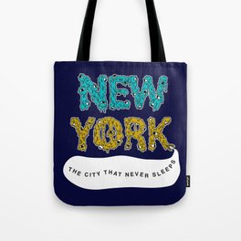 The Melted City, That Never Sleeps. Tote Bag