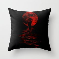 Rainman in Red Throw Pillow