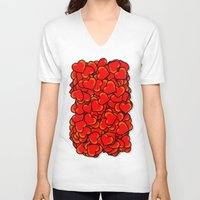 hearts V-neck T-shirts featuring Heart by 10813 Apparel