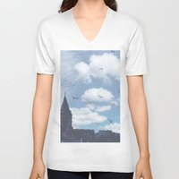 istanbul V-neck T-shirts featuring istanbul by ulas okuyucu