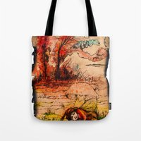 fairy tale Tote Bags featuring fairy tale by Elvira Marinevich