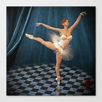 ballerina Canvas Prints featuring ballerina by Ancello