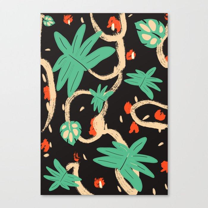 Jungle pattern Canvas Print