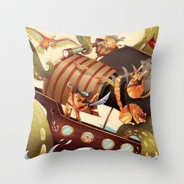 MEOWRRRRRRH!!! Throw Pillow
