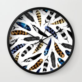 Bohemian Free Feather Wall Clock