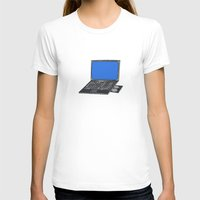 notebook T-shirts featuring LAPTOP NOTEBOOK NETBOOK by Sofia Youshi
