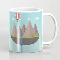 wwe Mugs featuring Flat island  by eARTh
