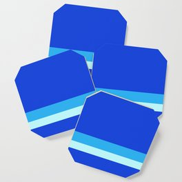 Solid Ultramarine w/ Two-Tone Light Blue Divider Lines Coaster