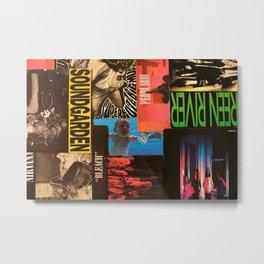 90's Grunge collage Metal Print