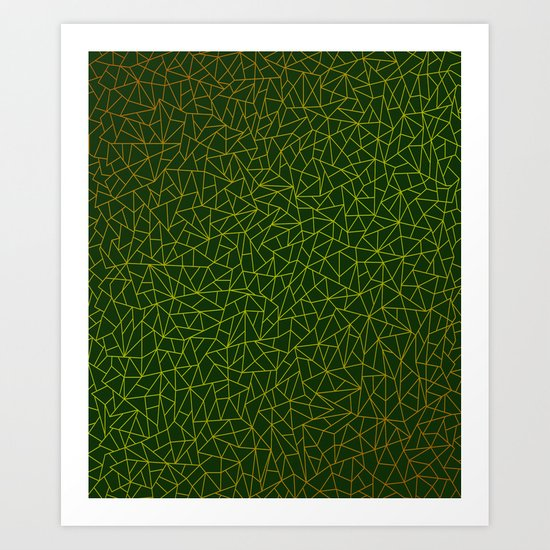 Gold Lowpoly in Green Background by diardo