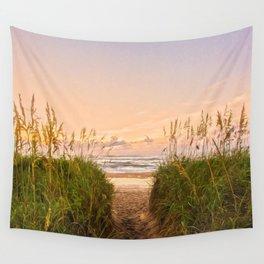 Beach Sunrise Wall Tapestry