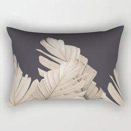 Sepia Banana Leaves Dream #3 #foliage #decor #art #society6 Rectangular Pillow