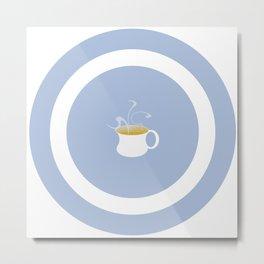 Tea On Target Metal Print
