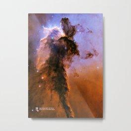 Eagle nebula (M16). Stellar spire in the Eagle Nebula. Metal Print