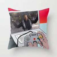 game Throw Pillows featuring  game by mark ashkenazi