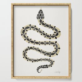 Serpent – Black & Gold Serving Tray