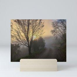 Foggy sunrise Mini Art Print