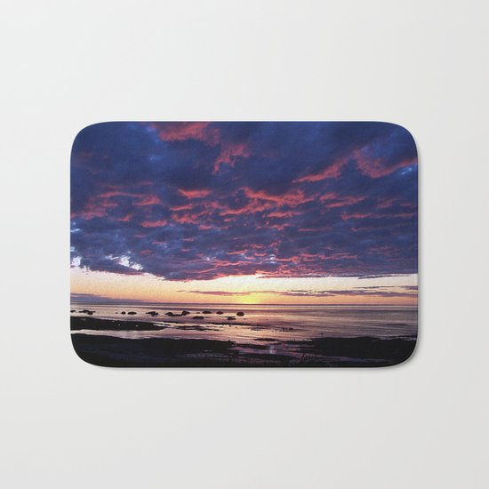 Textured Clouds at Sunset Bath Mat