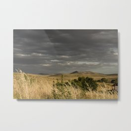 Storm in mountains Metal Print
