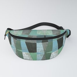 Perspective Compilation with Wood Grain and Teal Fanny Pack