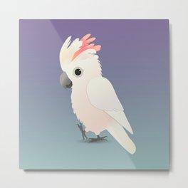 Salmon -crested cockatoo digital Metal Print