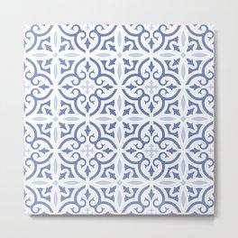 Aqua Metal Print