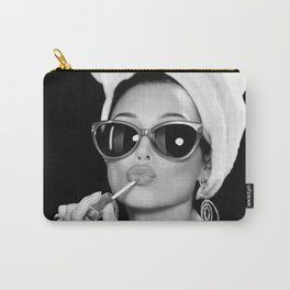 Audrey Hepburn Style Poster Art  Carry-All Pouch