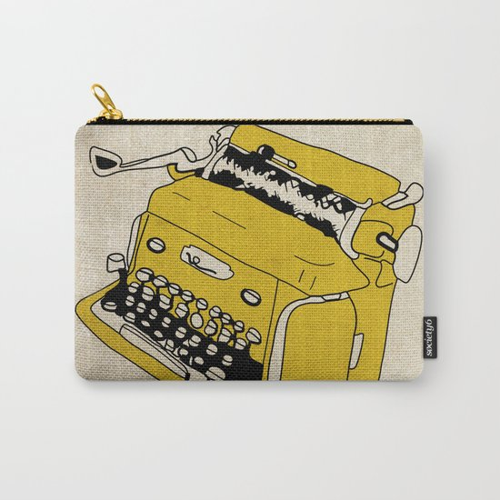 Grunge Typewriter Carry-All Pouch