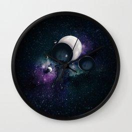 Falling Moon Man Wall Clock