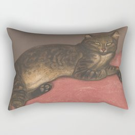 Winter Cat on a Cushion by Steinlen Rectangular Pillow