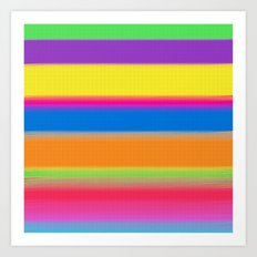 Candy Stripes. Art Print