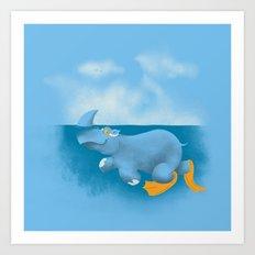 RhinosharK Art Print