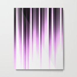 Ultra violet madness, dark shades lines print Metal Print