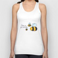 bees Tank Tops featuring Bees!!! by AbelleArt