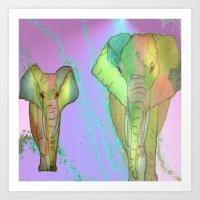 simba Art Prints featuring SIMBA by Laake-Photos
