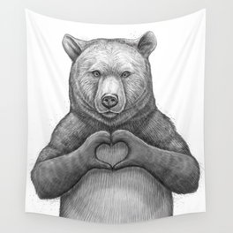 Bear with love Wall Tapestry