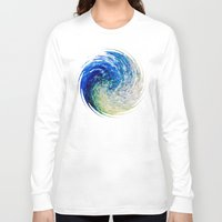 van gogh Long Sleeve T-shirts featuring Wave to Van Gogh by Fringeman