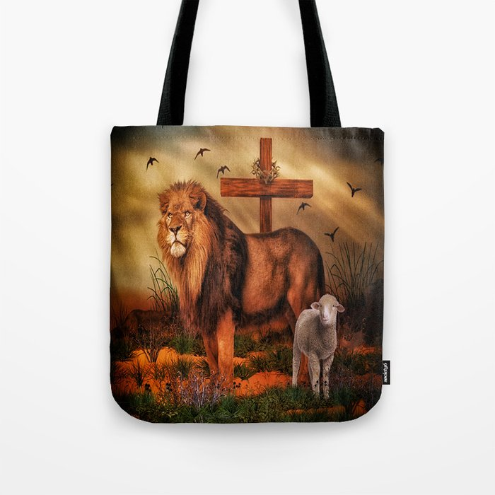 The Lion And Lamb Tote Bag By Gypsykisspotography