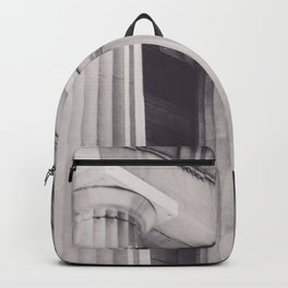 Black & white New York, Federal Hall, greek temple, Wall street, neoclassical architecture, fine art Backpack