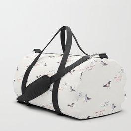 Zut Alors -- You What Love? // French & British Birds Duffle Bag