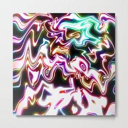 Oil Spills Neon Metal Print