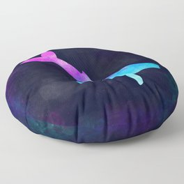 HUMPBACK WHALE IN SPACE // Animal Graphic Art // Watercolor Canvas Painting // Modern Minimal Cute Floor Pillow