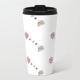 Flourish white pattern Travel Mug