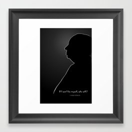 Alfred Hitchcock Silhouette & Quote Framed Art Print