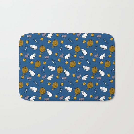 Mouse and Cat and Cheese Bath Mat